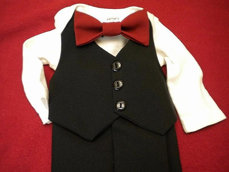 Baby Wedding Outfit AMERICAN MADE Black Baby Suit image 0