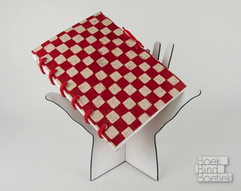 Bound-on-Cords Notebooks Red Checkered image 0