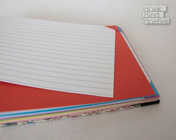 index card recipe book with exchangeable pages colors etsy