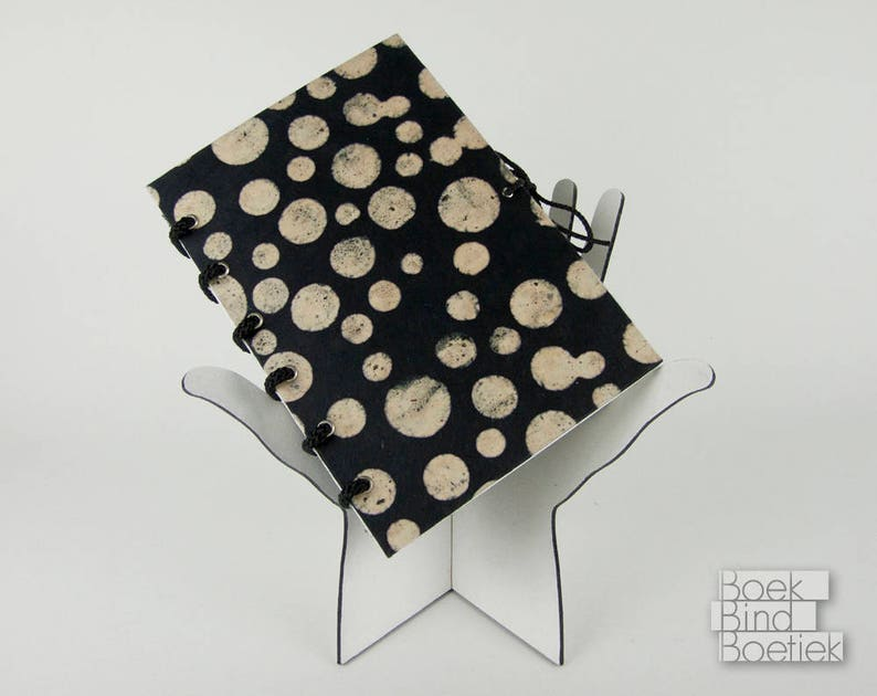 Bound-on-Cord Notebooks Black Circles image 0