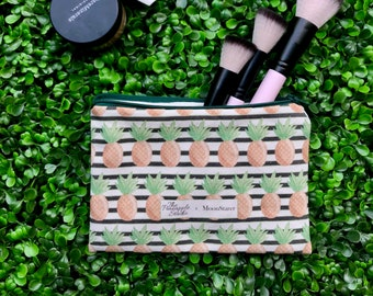 Pineapple Zipper Pouch | Pencil Case, Makeup bag, Zipper bag with cacti plants