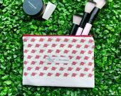 Roses Zipper Pouch Pencil Case, Makeup bag, Zipper bag with cacti plants