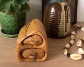 Handmade wood trinket box, Hobbit Jewelry Drawers, Rustic jewelry storage, woodland box