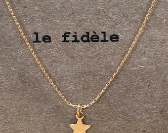 Gold plated star necklace, the faithful minijoaillerie collection
