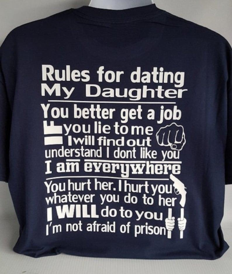 Regeln für die Datierung meiner Tochter Shirts zum Verkauf