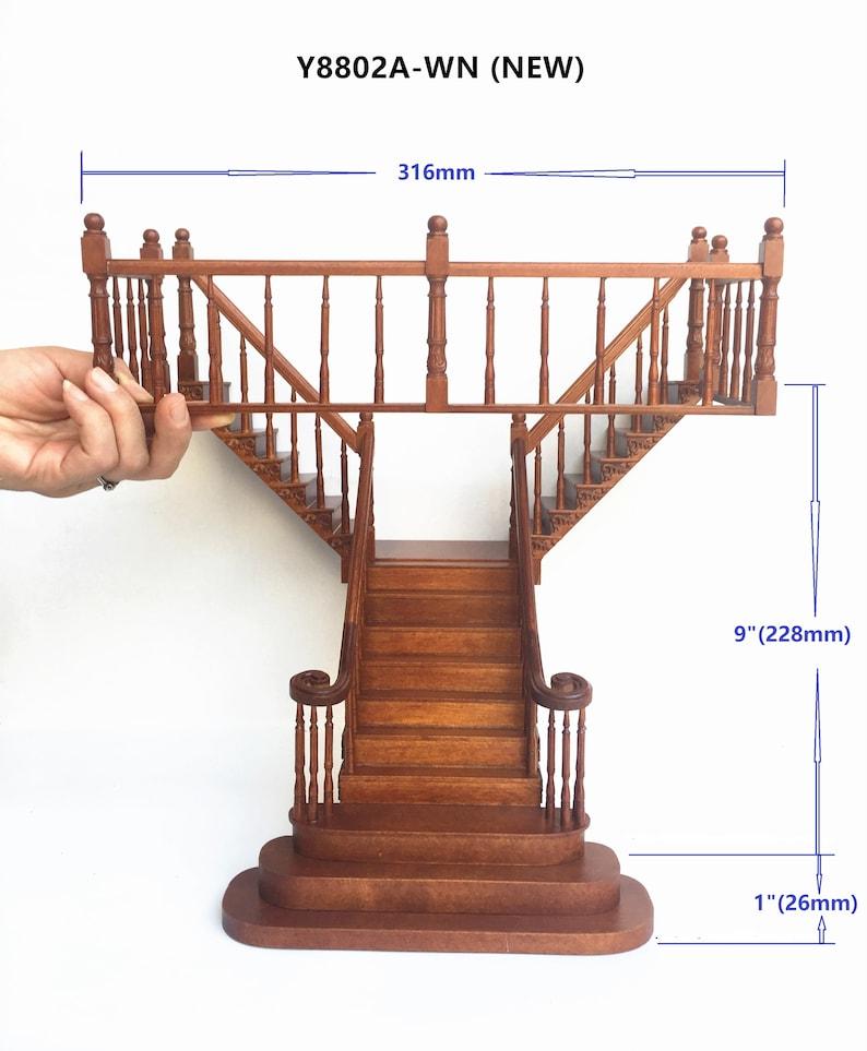 Dollhouse Miniature 1:12 scale Porch Stair Railing