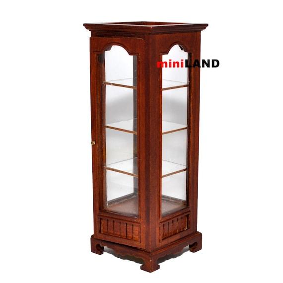 Dollhouse Minaiture Store Display Cabinet Oak