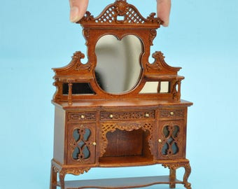 Kensington Victorian Sideboard Walnut High quality for dollhouse miniature 1:12 scale - limited edition
