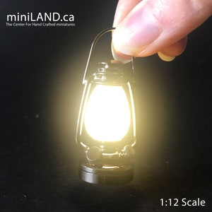 16 1:6  Barbie Lamp light Super Bright battery operated LED oil lamp Dollhouse miniature lantern Silver