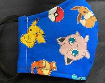 Pokemon Pikachu cotton face mask