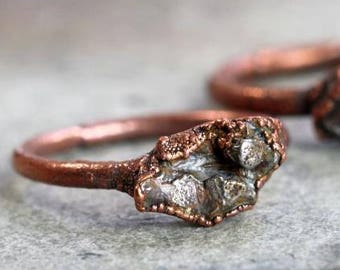 Meteorite Ring - Electroformed Copper Ring - Geekery Collector Gift - Astronomy Gift
