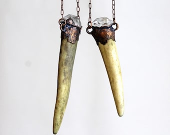 Deer Antler Necklace - Talisman Jewelry - Crystal Jewelry - Witchy Jewelry - Woodland Creature