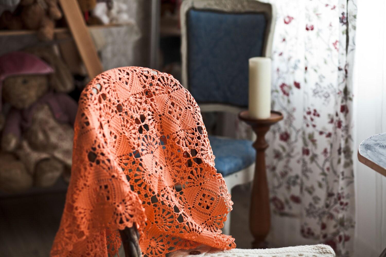 24 x 35 cm / 60 x 90 cm - crocheté jet - Vintage Tablerunner - décoration de la maison fait à la main