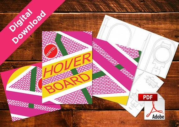 Diy Back To The Future Hoverboard Digital Download Print At Home Plus 3d Blueprints