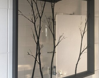 Trees - Hand painted mirror & original artwork