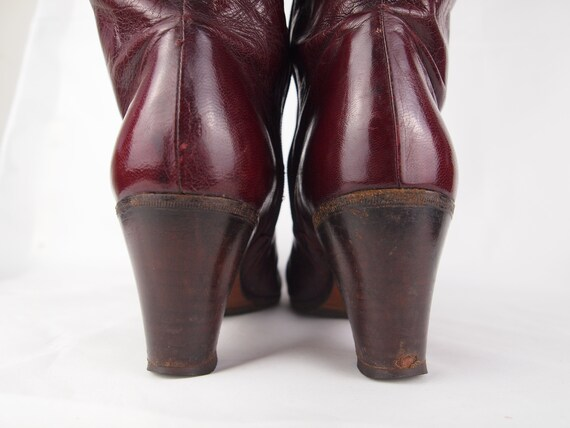 Jean Bady oxblood leather boots - tall boots - re… - image 8