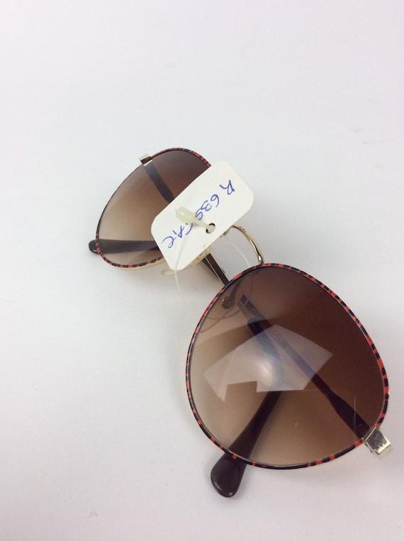 Vintage Sunglasses - red and black sunglasses - 7… - image 6