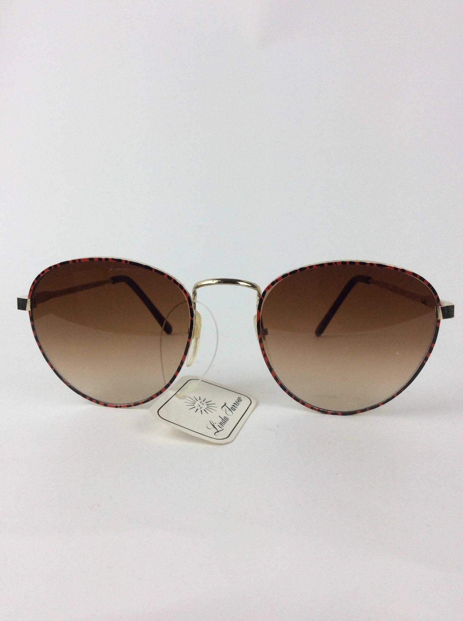 Gafas de sol vintage  gafas de sol rojas y negras  70s