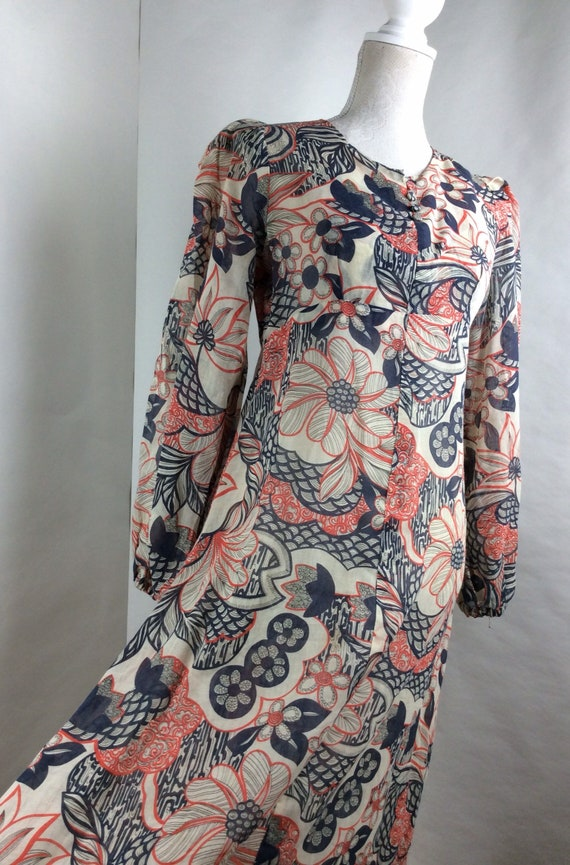 Floral dress - maxi dress - flower power - long sl