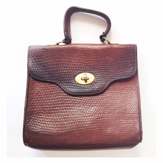 Vintage Mulberry Handbag - brown leather bag - 90s
