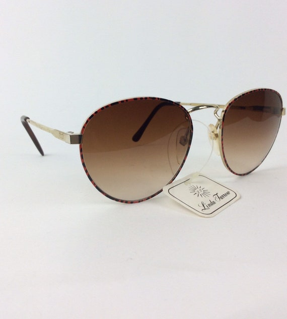 Vintage Sunglasses - red and black sunglasses - 7… - image 9