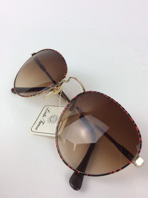 Vintage Sunglasses - red and black sunglasses - 7… - image 1