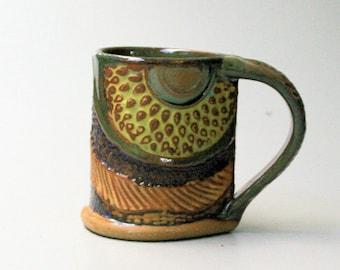 Hand-built Stoneware Sunflower Mug