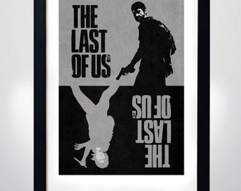 The LAST OF US, Joel & Ellie,  Wall Art Print Game  Poster (selectable size)