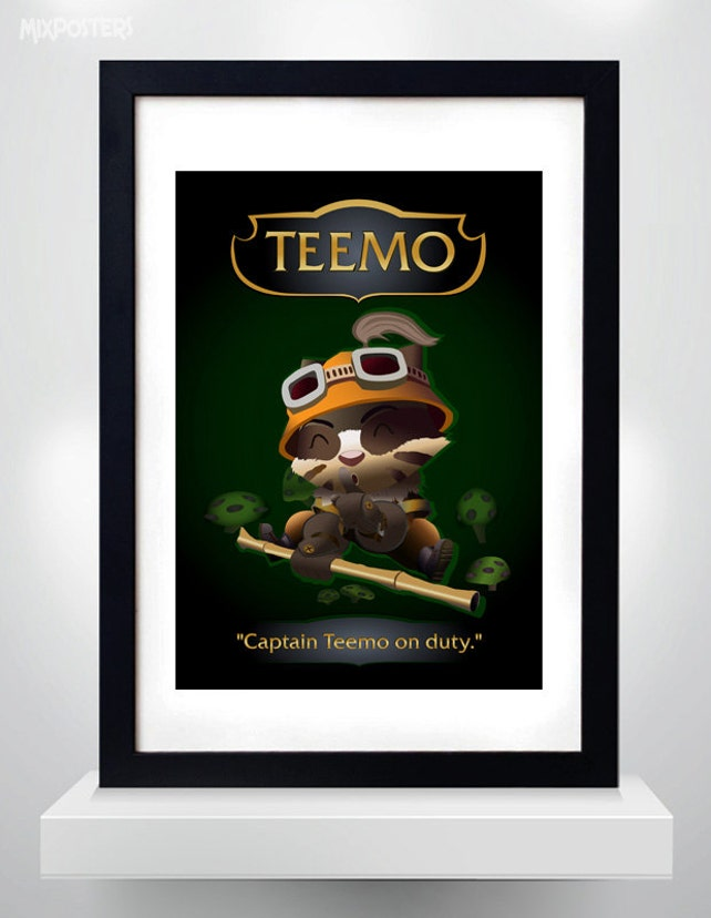 TEEMO LEAGUE of LEGENDS Wall Art Print Game Poster | Etsy