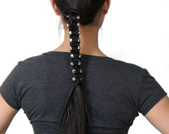 Pony Tail Holder Leather three different SIzes
