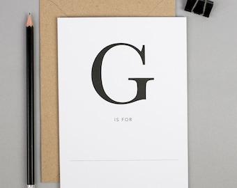 A-Z Letter Cards