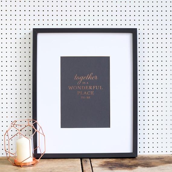 Copper Anniversary Letterpress Art Print