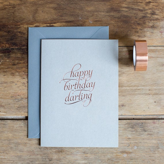 Happy Birthday Darling Greetings Card