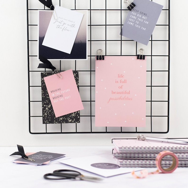 Two Week Wait Positivity Cards IVF IUI FET Pink and Grey image 0