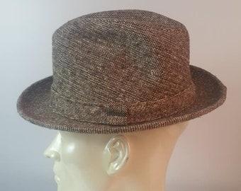 Sexy STETSON Men s Fedora Brown Plaid Pattern Size 7 Vintage 1960s l Mens  Hats Fedoras l Fathers Day l Mad Men l 1960s Mens Fashions 2b754a463524