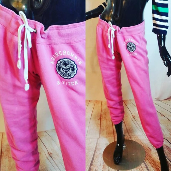 Fitch Pink Low Rise Sweat Pants
