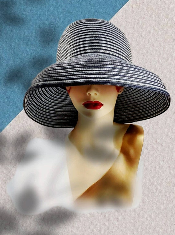Vintage 1980s Betmar Sun Hat Slouch Hat Floppy Hat