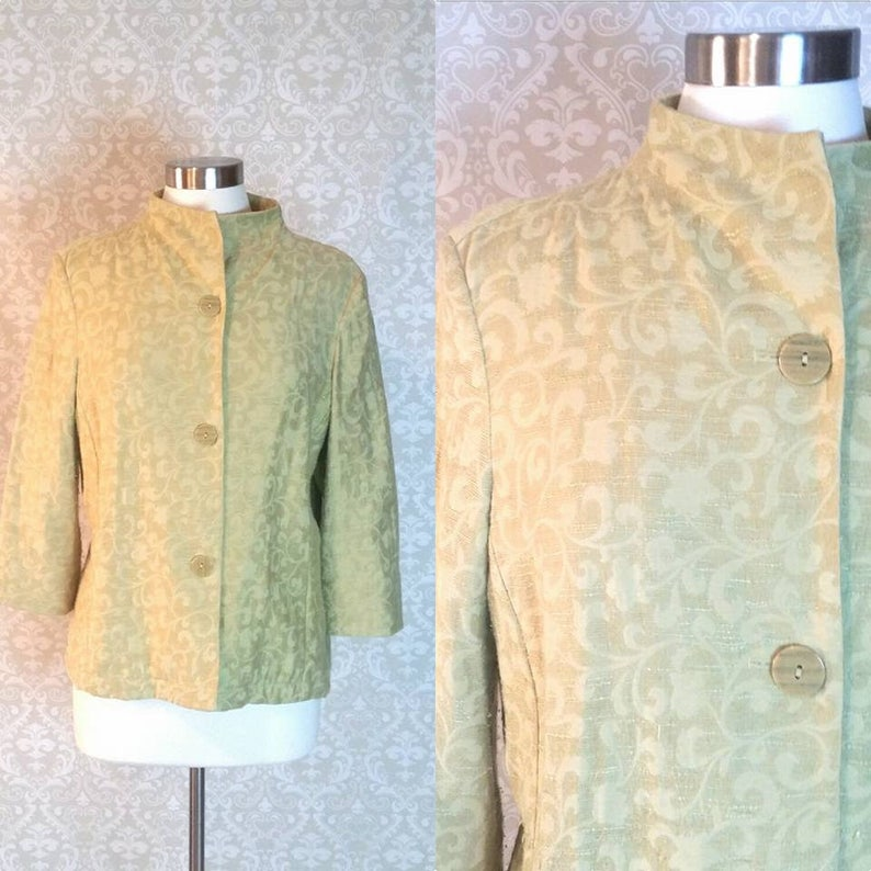 c8d32c7b3 Coldwater Creek Light Green Tunic Blazer Size Medium Vintage | Etsy