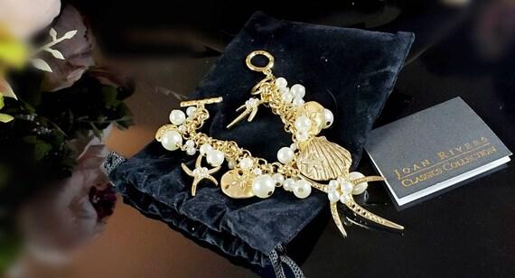 Sea Charm Bracelet by JOAN RIVERS 8 inch Authentic