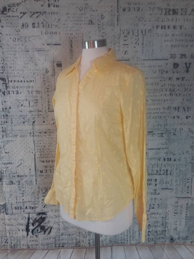 Coldwater Creek Sunshine Yellow Sheer Summer Top Size Medium Vintage 1980s I Summer Beach SwimSuit Cover Up I Casual Friday I Summer CoverUp
