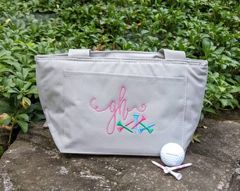 Personalized Golf Cooler / Lunch Tote / GolfAccessory/ Golf Gift / League /Golf Team /Embroidered