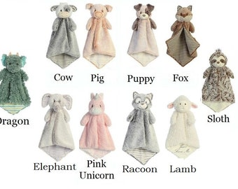 Personalized animal lovey   animal blanket   lovey   personalized blanket   security blanket   baby gift   custom baby gift