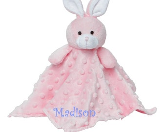 Personalized Bunny Blankie / Lovie / Security Blanket.  This will be an instant favorite.