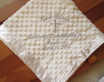 Personalized Embroidered Baby Blanket /Boy/Girl/ The WOW gift treasured for years to come! Perfect for New Baby, Baptism, Christening.