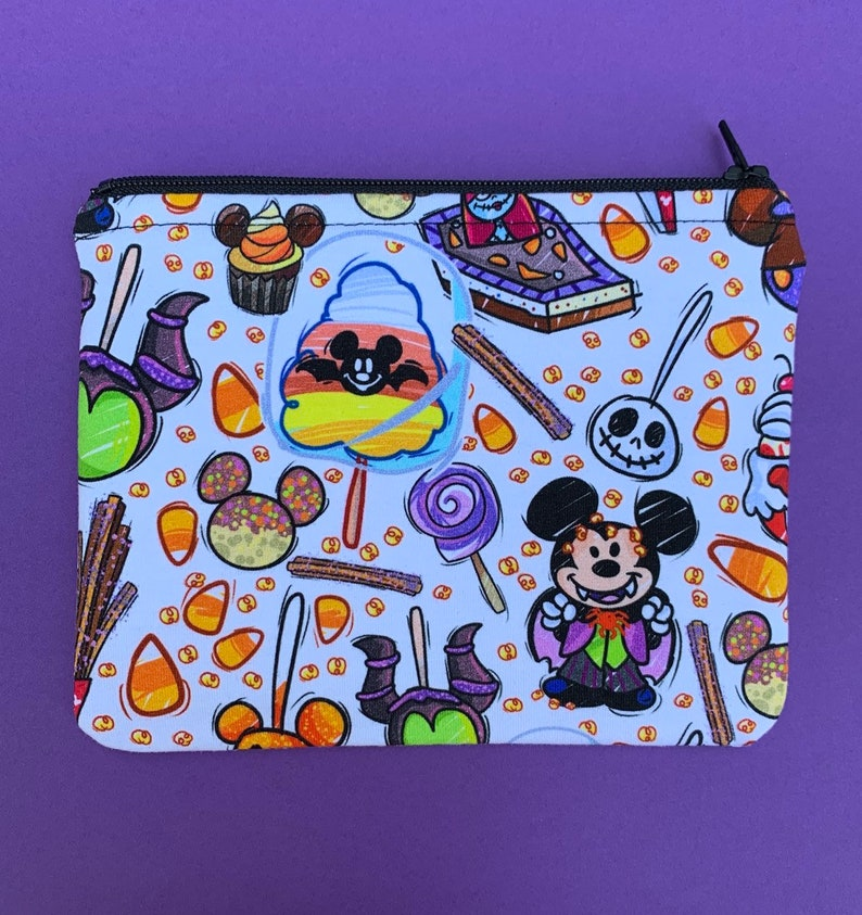 Disneyland Halloween Park Snacks and Treats Fabric Handmade image 0