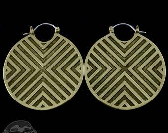 14G Flux Brass Earrings / Weights