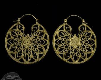 14G Posy Brass Earrings / Ear Weights