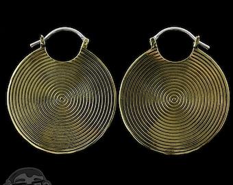 Hypnotic Brass Earrings / Weights