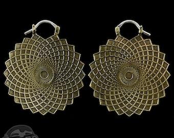 Geometric Brass Earrings / Weights
