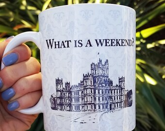 What is a weekend Downton Abbey Inspired Mug